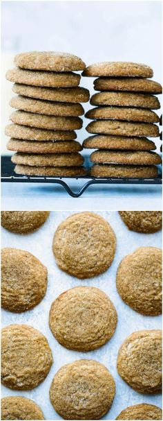 Soft Gingersnap Cookie Recipe on http://twopeasandtheirpod.com The BEST gingersnap cookie recipe. These cookies are perfectly spiced and SO soft! They are our favorite Christmas cookies!
