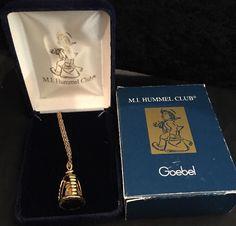 "Hummel Club Honey Lover 24"" 18 K Gold Plated Necklace #Hummel #Pendant"