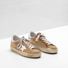 Golden Goose Super Star Upper In Velvet Brown Men - Golden Goose / GGDB #goldengoose #shoes #sneakers #lifestyle #spring #ss18 #outlet #superstar