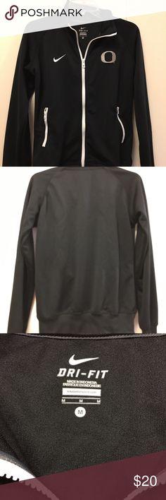 """Nike Track jacket oregon Black medium Track jacket oregon Black medium Armpit to armpit is 19.5"""" Length 24"""" Nike Tops Sweatshirts & Hoodies"""