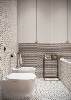 Modern Scandinavian Bathroom Interior In White - Bathroom Ideas - Bathroom Decor Modern White Bathroom, Modern Bathroom Design, Bathroom Interior Design, Modern Interior Design, Small Bathroom, Bathroom Ideas, Bathroom Designs, Minimalist Bathroom, White Bathrooms