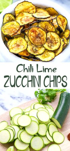 Chili Lime Zucchini Chips Recipe Oven Baked – light and healthier delicious snack. Perfect for football season. Baked Squash And Zucchini Recipes, Zucchini Chips Recipe, Zuchinni Recipes, Vegetable Recipes, Vegetarian Recipes, Cooking Recipes, Lime Recipes Paleo, Baked Vegetable Chips, Vegtable Chips