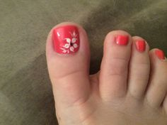 Summer pedicure Nail Designs Toenails, Toenail Art Designs, Flower Nail Designs, Pedicure Designs, Colorful Nail Designs, Painted Toe Nails, Pretty Toe Nails, Summer Toe Nails, Toe Polish