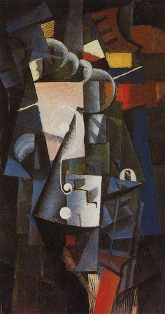 Kazimir Malevich, Vanity Box, oil on canvas, 1913