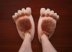 Lord of the Rings Plush Halfling Slippers! Be proud to be Proudfoot.