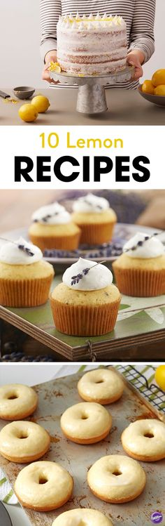 Love lemons? Check out these 10 delicious, tangy lemon recipes that are perfect for any occasion and celebration. Recipes include lemon poppy seed cake, lemon lavender cupcakes, and lemon blueberry pavlova.