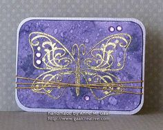 Purple Boho Butterfly ATC (59th) by Anne Gaal. See all my artist trading cards (ATCs) at: http://www.atcsforall.com/forum/gallery/index.php?u=3647 or visit my blog at: http://www.gaalcreative.com    Feel free to re-pin! ♥