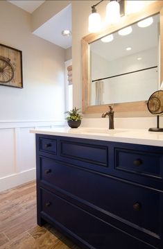Bathroom Vanity Colors most popular cabinet paint colors | hale navy, studio mcgee and