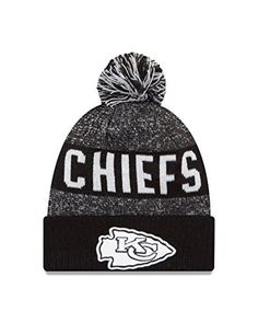 NFL Kansas City Chiefs 2016 Sport Knit Beanie One Size BlackWhite     Want  to 6a0e0b56cd44