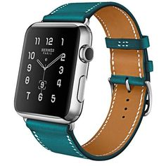 Genuine Leather Band Bracelet Watchband For Apple Watch Band Styles:Double Tour / Single Tour / Bracelet Band. Model:For Apple Watch. Compatible for Apple Watch Genuine leather strap, make sure that when wear neat and submissive. Apple Watch 42mm, Apple Watch Series 3, Hermes Apple Watch, Buy Apple Watch, Hermes Watch, Apple Watch Leather, Leather Watch Bands, Buy Watch, Watch Ad