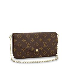 LOUIS VUITTON Official USA Website - Shop the Pochette Félicie, a designer envelope pouch. A stylish clutch in our iconic Monogram canvas with a removable gold chain shoulder strap. Louis Vuitton Australia, Louis Vuitton Usa, Pochette Louis Vuitton, Louis Vuitton Felicie, Louis Vuitton Store, Louis Vuitton Handbags, Louis Vuitton Monogram, Small Louis Vuitton Bag, Louis Vuitton Official Website