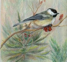 Chickadee in Art