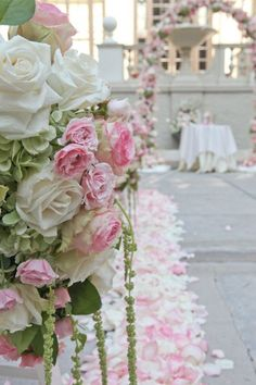 pink aisle decor