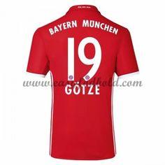 Fodboldtrøjer Bundesliga Bayern Munich 2016-17 Gotze 19 Hjemmetrøje