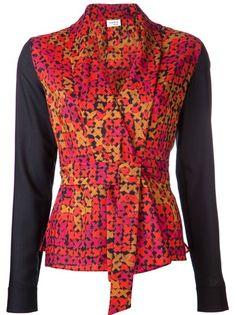 AKRIS PUNTO - cross print blouse