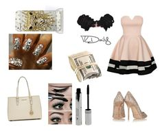 """i got dressed up to see daddy"" by fleeklykalonie ❤ liked on Polyvore featuring Jimmy Choo and MICHAEL Michael Kors"