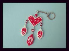 Porte Clés Rêves-Love rouge et blanc