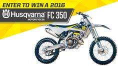 Win a 2016 Husqvarna 350 and a year supply of Rockstar!