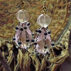 Pink Briolette Earrings