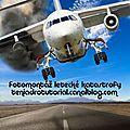 Fotomontáž letecké katastrofy