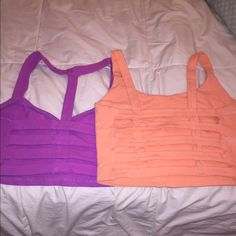 Tobi crop tops Magenta and light orange (almost coral), both have a caged back and have each only been worn once! Tobi Tops
