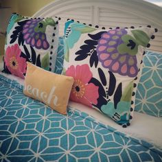 Beautiful Bedding - Sirenia Cove - Anna Maria Island Florida http://www.annamariaislandhomerental.com https://www.facebook.com/AnnaMariaIslandBeachLife?ref=tn_tnmn