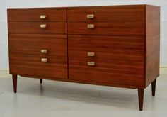 Teak Eight Drawer Chest of Drawers Circa 1950's by Meredew