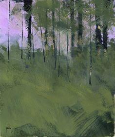 Original abstrait peinture bois arbre semi-choisir mon chemin à travers