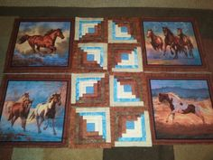 started the horse quilt today :) follow me at https://www.facebook.com/quiltsbyTaylor