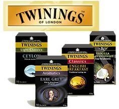 Get 3 FREE Samples of Twinings of London Tea Scroll all the way to the bottom of the page for the form. You get to pick 3 flavors of tea to sample. Hurry