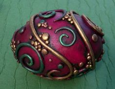 Violet Decorative Egg by MandarinMoon.deviantart.com on @deviantART