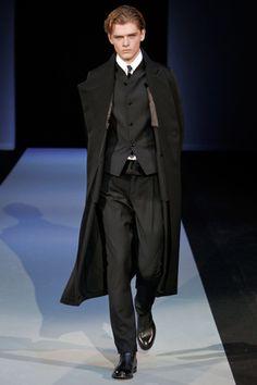 Emporio Armani  fall 2011 Armani Men, Emporio Armani, Classy Men, Latest Trends, Raincoat, Suit Jacket, Menswear, Mens Fashion, People