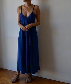 Womens strappy maxidress boho low back. Royal blue by MuguetMilan
