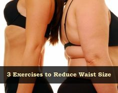 3 Exercises to Reduce Waist Size: Hindu Squats for 5 min. Walking up an incline for 15 min. Vacuum Pose for 5 to 20 min. These exercises can take off major inches in short period if done consistently