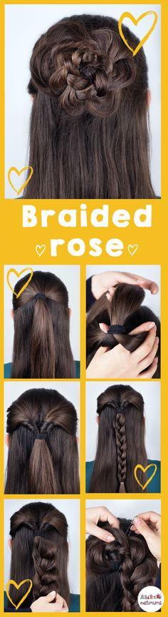 Braided hair rose.