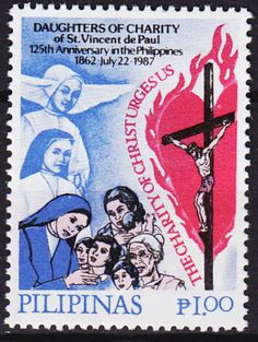 Philippines-125th-Ann-Daughters-of-Charity-St-Vincent-de-Paul-1987-MNH-1-Euro