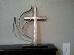 Methodist, cool metal sculpture