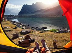 Breathtaking Morning Views from Tents, http://itcolossal.com/views-tents/ Check more at http://itcolossal.com/views-tents/
