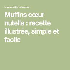 Muffins cœur nutella : recette illustrée, simple et facile
