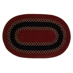 Colonial Mills Barrington Band Reversible Rug, Dark Red