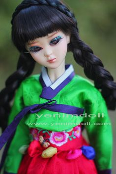 korea bjd doll    doll name is mijo yenimdoll's msd doll (43cm)  korea traditional dress hanbok