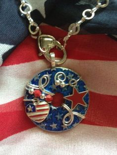 Cute Patriotic Washer Pendant with Optional chain by KsPeddlers on Etsy. Also visit my facebook page called Washer Wear.