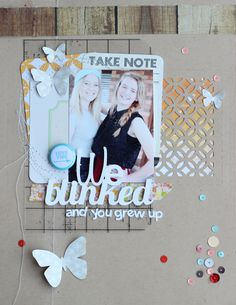 From the Jot blog.. MY first layout using the Silhouette to cut out titles and bits:)