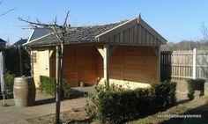 Houten tuinkamer met veranda.  Vechtdal Bouwsystemen BV www.vechtdalbouwsystemen.nl