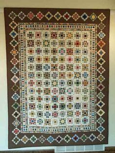 Millennium Stars pattern by Sue Garmin.  Made with Civil War repro fabrics.
