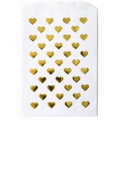 Gold Foil Heart Print Favor Bags in White from Splendid Supply Co: http://splendidsupply.com