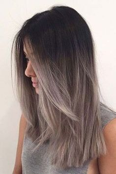 What Is The Difference Between Balayage And Ombre Brown Hair With Grey Ombrehair Color