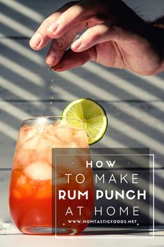 Looking to make an easy but delicious rum punch at home? Check out Nomtastic Foods' latest for a quick how to that will upgrade happy hour stat! #rumpunch #rumpunchrecipe #rumrecipe #rumdrinks #rumcocktail #cocktail #cocktailrecipe #cocktailrecipes