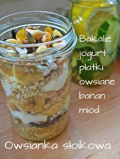 a cena jest . no nie wiem. Healthy Dishes, Healthy Dessert Recipes, Breakfast Recipes, Healthy Snacks, Jucing Recipes, Mackerel Recipes, Coctails Recipes, Kiwi, Slow Food