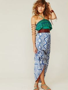 Tribal inspired jumpsuit. Can't take my eyes off.